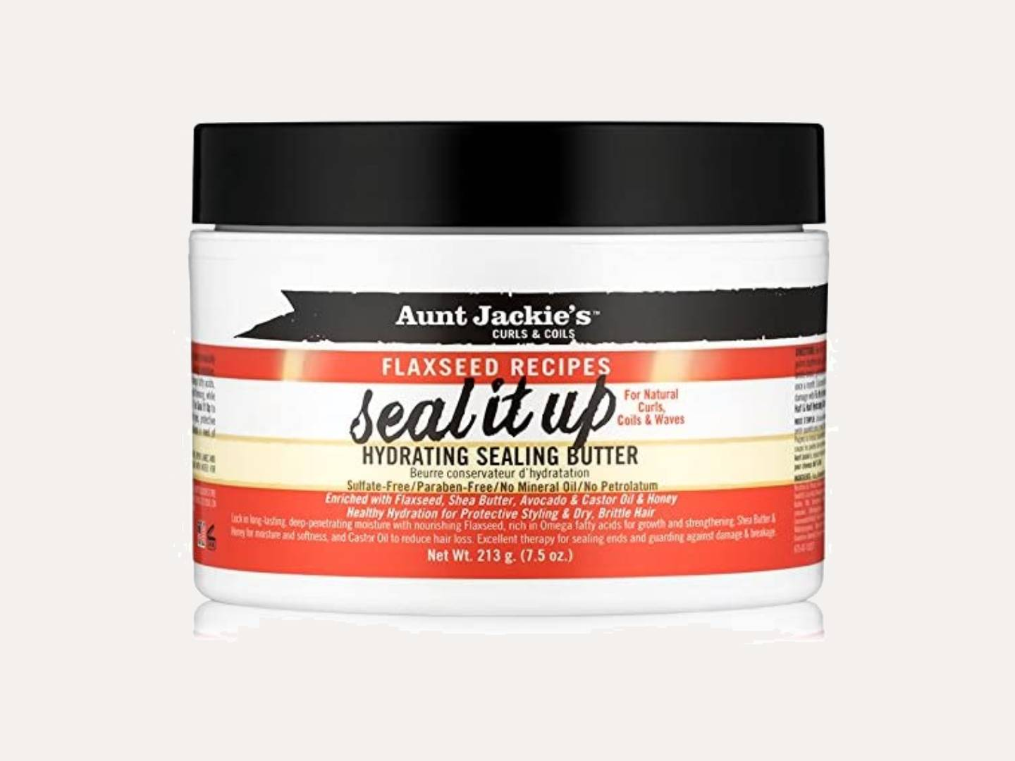 Aunt Jackie's Flaxseed Recipes Seal It Up Hydrating Sealing Butter 7.5oz